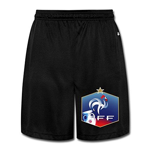(Show Time Men's Euro 2016 Champ France Short Home Wear Sweatpants Black 3X)