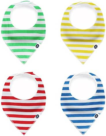 Baby Bandana Drool Bibs, -VARIETY OF 40 CUTE SETS- Unisex 4-Pack Gift Set for Drooling and Teething, 100% Organic Cotton, Soft and Absorbent, Hypoallergenic - for Boys and Girls by Karids…