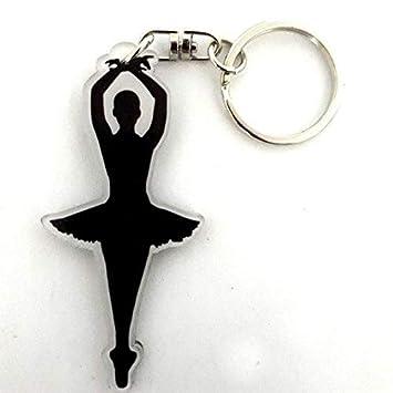 Llavero de acrílico silueta bailarina danza clásica: Amazon ...
