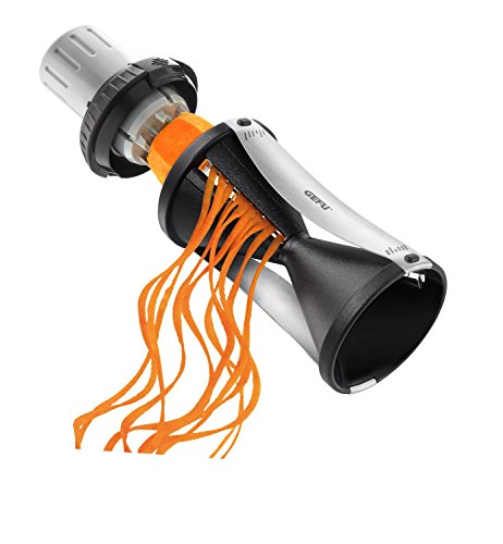 Spiralizer- Vegetable Spiral Slicer with Attachable Finger Guard- Spirelli 2.0 by GEFU (Fruit Push Pins)