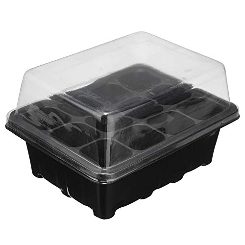 Wikiwand 12 Cell Plug Propagation Box Kit Dome + Tray + Inserts with Holes Grow Kit (Kit Vent Grow Auto)