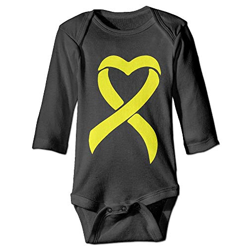 PUREYS-I Printed Sarcoma Bone Cancer Ribbon Cute Baby Girls Long Sleeves Bodysuit Outfits ()