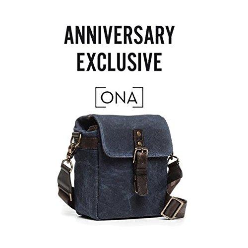 ONA - The Bond Street Camera Messenger Bag, Waxed Canvas (Oxford Blue)