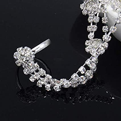 Beauty show 1 Pc Foot Anklet Bridal Accessories Women Sexy Rhinestone  Barefoot Sandals 50022db6cb41