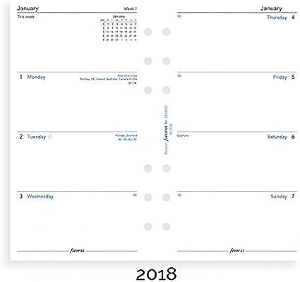 Filofax Mini Woche auf Zwei Seiten Englisch 2020 Tagebuch