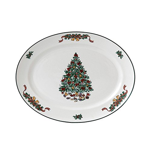 (Johnson Brothers Victorian Christmas Oval Platter, 13.75-Inch, Multicolored)