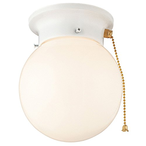 Price comparison product image Product of Hardware House Light with Pull Chain - White - Ceiling Fixtures [Bulk Savings]