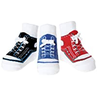Baby Emporio-Baby & Infant Boy Socks-Shoe Look-Anti Slip-Cotton-Gift Bag-0-9 ...