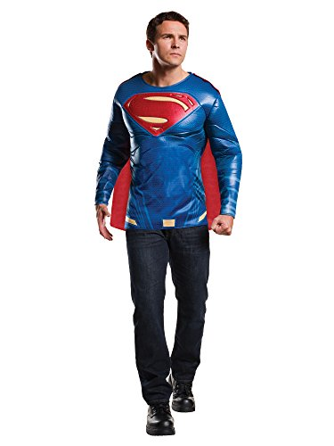 Rubie's Men's Batman v Superman: Dawn of Justice Superman Muscle Chest Top, Multi, X-Large -