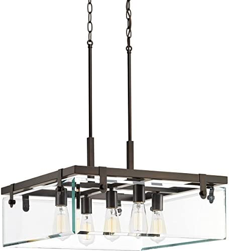 Progress Lighting P500074-020 Glayse Five-Light Pendant, Brown
