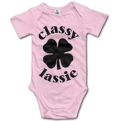 Under The Sea Costumes Plus Size (Unisex Baby Classy Lassie St. Patrick's Day Short Sleeve Romper Jumpsuit Bodysuit 12 Months)