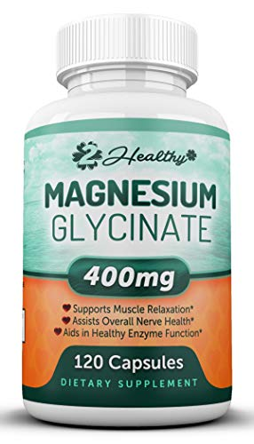 Magnesium Glycinate 400mg Supplement - 120 Non-Laxative Vegan Capsules, Non GMO Chelated Bisglycinate Pill - High Absorption & Bioavailable Magnesium for Tension, Muscle Cramps, Stress Relief & Sleep