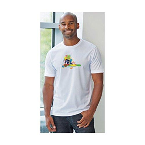 US Stock-Plain White Sublimation Blank Polyester T-Shirt for Men 30pcs Size M / L / XL(Each Size 10pcs)