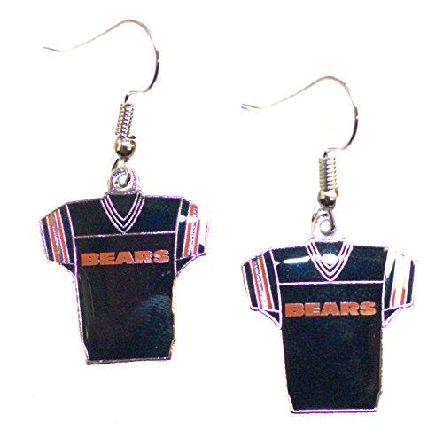 Baseball Jersey Bear (NFL Chicago Bears Jersey Dangler Earrings)