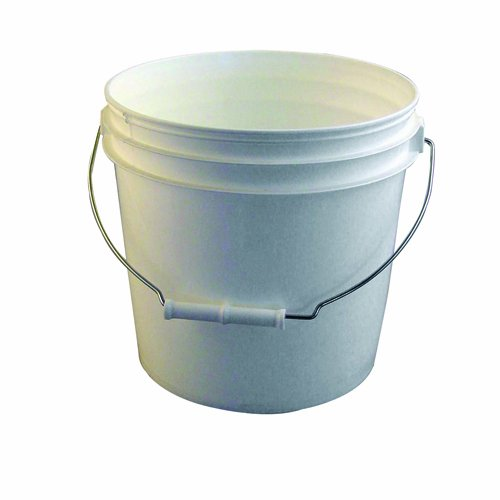 amazon com bon 84 715 2 gallon reinforced white plastic bucket