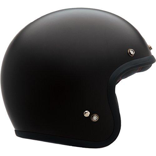 Bell Custom 500 Open-Face Motorcycle Helmet(Solid Matte Black, Medium)