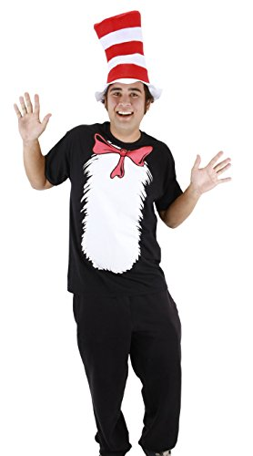 Dr. Seuss Cat in the Hat Short Sleeve T-Shirt with Hat (Mens M) by elope by elope (Image #1)'