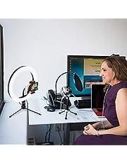 SUIDSFKDFJS Led-ringlamp, fotografie led-ring, fill licht, dimbaar, camera, telefoonring, lamp met tafelstatief voor video, live studio
