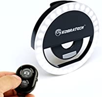 KobraTech [Zero Haze] Selfie Light with Remote - LED Selfie Ring Light for iPhone or Android - MiLite Phone Ring Light - Includes Bluetooth Remote Shutter