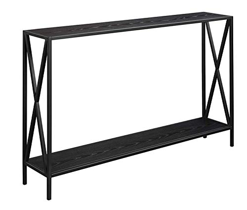 Convenience Concepts 161899BL Tucson Console Table (Bench Glass Tv)