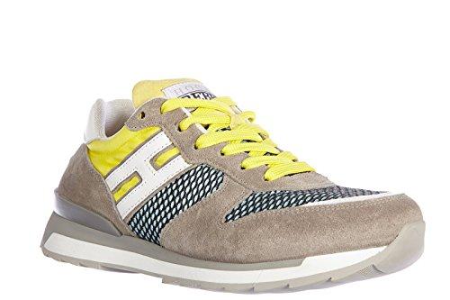 Hogan Rebel Chaussures Baskets Sneakers Homme en Daim Rebel r261 Jaune