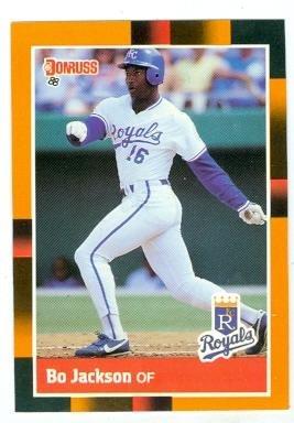Bo Jackson Baseball Card Kansas City Royals Bo Knows 1988