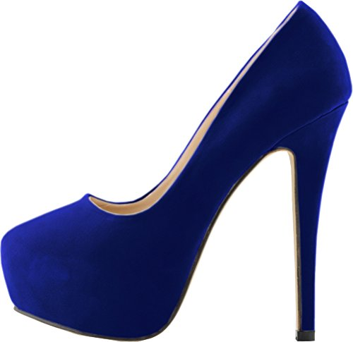 Salabobo , Semelle compensée femme Bleu