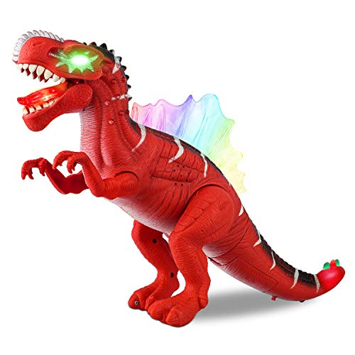 Baccow Kids Dinosaur Toys for 3 Year Olds, Led Light Up Sound Walking Realistic No Faded and Smell Big Lighted Toy Dinosaurs for 5 Year Old Boys and Girls -