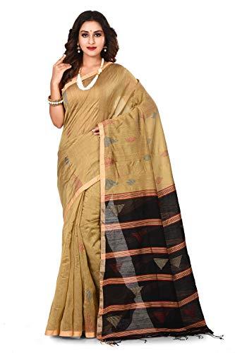 BENGAL HANDLOOM Traditional Handloom Handwork Muga Jamdani Saree