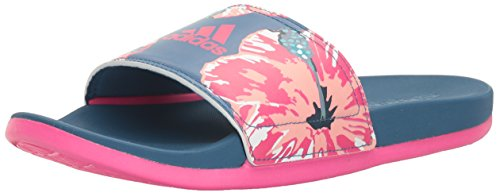 adidas Performance Women's Adilette CF+ GR W Athletic Sandal, Core Blue/Shock Pink/White, 9 M US