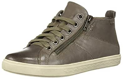 ROCKPORT Cobb Hill Women's Willa High Top Sneaker, Grey Leather, 5 M US