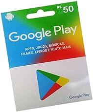 Cartão Google Play R$ 50 Reais - Gift Card Pré-pago