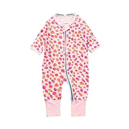 Kids Tales 3 Pack Baby Girls Footies Pajama Sleeper Cotton Graphic Zipper Romper