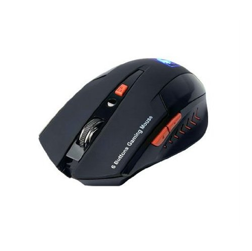 Cool Optical 6 Buttons 2.4g Wireless Gaming Mouse with 800 / 1200 / 2400 DPI