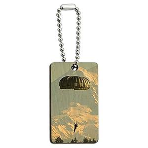 Fallschirm Fallschirmjäger Fallschirmspringer, aus Holz, rechteckiger...