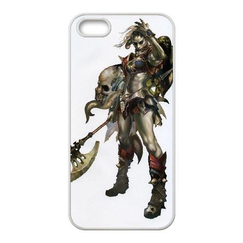 Female Orc Lineage Ii 3 coque iPhone 5 5S Housse Blanc téléphone portable couverture de cas coque EOKXLLNCD11783