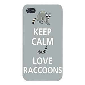 diy phone caseApple Iphone Custom Case 5 / 5s White Plastic Snap on - Keep Calm and Love Raccoonsdiy phone case