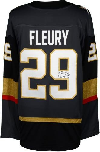 Marc Andre Fleury Vegas Golden Knights Autographed Black Fanatics Breakaway Jersey Fanatics Authentic Certified