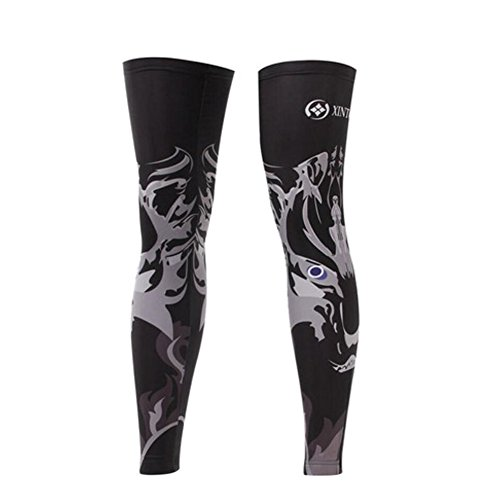 George Jimmy UPF 50+ Cycling/Hiking/Running/Basketball/Golf/Fishing Leg Sleeves XXL-14 by George Jimmy