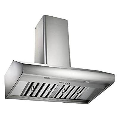 Kobe 36W in. CH7736SQB-WM-1 Wall Mounted Range Hood