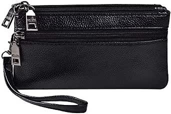 POLAIYA Bag For Unisex,Bright Black - Wristlets