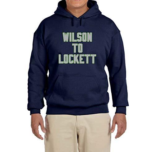 Tobin Clothing Navy Seattle Wilson to Lockett Hooded Sweatshirt Youth Large