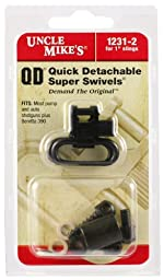 Uncle Mike\'s Quick Detachable Super Swivels for Most Pumps and Autos (Blued, 1-Inch Loop)