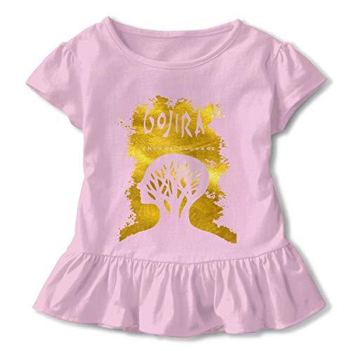 Kid T Shirt Gojira L'enfant Sauvage 3D Tee Baseball Ruffle Short Sleeve Cotton Shirts Top for Girls Kids Pink2T