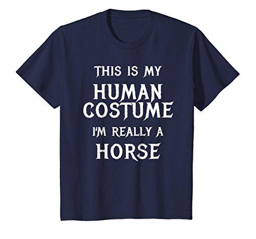 Kids Horse Halloween Costume Shirt Easy Funny Gift Idea 12 Navy for $<!--$19.99-->