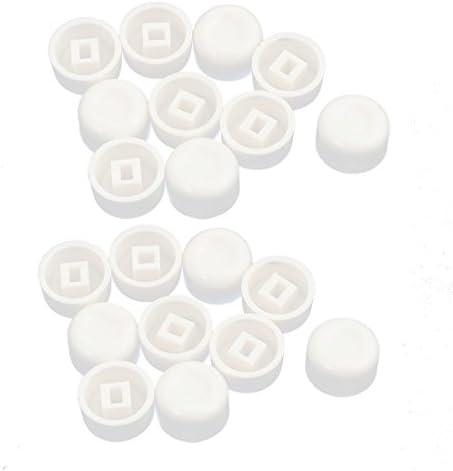 uxcell スイッチキャップ ボタンキャップ タクティールボタンキャップカバー 13x7.7mm 20個入り