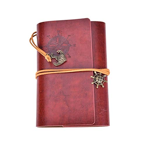 OBELLA BOUTIQUE New Diary Book NoteBook Vintage Pirate Note Book Replaceable Traveler Notepad book Leather Cover Blank Notebook Journal Diary