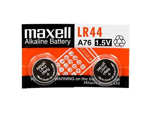 Maxell LR 44 Alkaline Cell Batteries  Silver