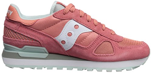 Donna Shadow Sneaker white Pelle Scamosciata Saucony Pink Bassa Original AaqwEy7