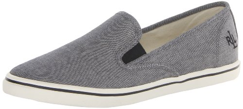 Lauren Ralph Lauren Women's Janis Fashion Sneaker,Grey,7 B - On Slip Lauren Ralph